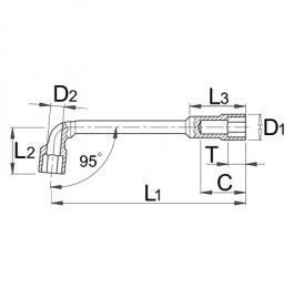 Ključ lulasti, dvostrani 176 6mm UNIOR