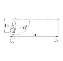 Ključ za točak, savijeni 210/2 19mm UNIOR