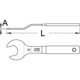 Ključ viljuškasti jednostrani savijeni 1618/2DP UNIOR