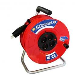 Kablovska motalica na 280mm metalnom bubnju sa gumenim kablom 16 A 250 V 33m profi Commel