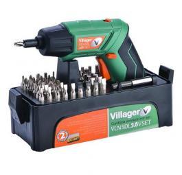 Akumulatorska bušilica odvijač sa 55 kom pribora LJon VLN SDL 3.6 SET Villager