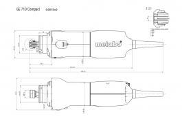 Čeona brusilica GE710 Compact Metabo