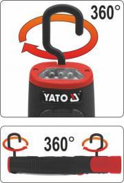Akumulatorska punjiva LED lampa Lion 30 dioda Yato