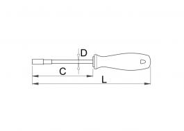 Šrafciger nasadni ključ 7mm 629CR Unior