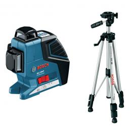 Linijski laserski nivelator sa koferom GLL 3-80 + stativ BT 150 Bosch