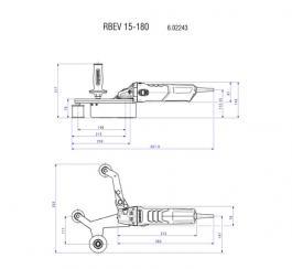 Tračna brusilica za cevi RBE 15-180 Set Metabo