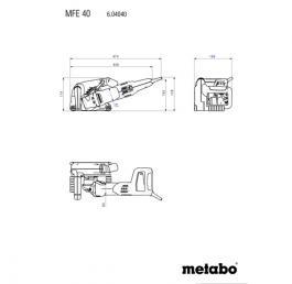 Električna šlicerica MFE 40 sa 2kom dijam. ploča Metabo