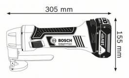 Akumulatorske makaze za lim GSC 18V-16 Professional Solo Bosch