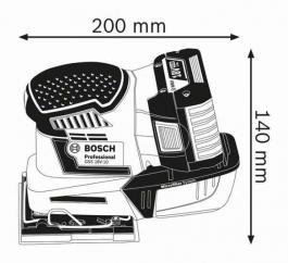 Akumulatorska vibraciona brusilica GSS 18V-10 Professional Solo Bosch