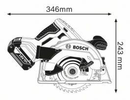 Akumulatorska kružna testera GKS 18V-57 Professional Solo Bosch