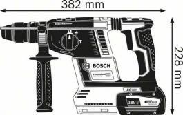 Akumulatorski elektro-pneumatski čekić za bušenje SDS-plus GBH 18V-26 F Professional Solo Bosch