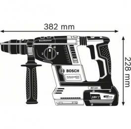 Akumulatorski elektro-pneumatski čekić za bušenje SDS-plus GBH 18V-26 Professional Solo Bosch