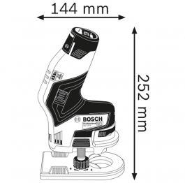 Akumulatorska glodalica za ivice GKF 12V-8 Professional Solo Bosch