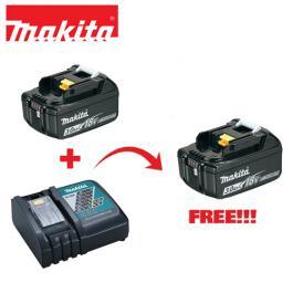 Punjač brzi DC18RC + 2 baterije 5Ah BL1850B Makita