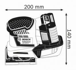 Akumulatorska vibraciona brusilica GSS 18V-10 Professional Bosch