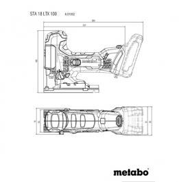 Akumulatorska ubodna testera STA 18 LTX 100 Metabo Body