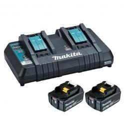 Set akumulatorska udarna bušilica-odvijač DHP482Z sa akumulatorskom kosilicom za travu DLM380Z i kompletom baterija i punjačem Makita