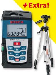 Daljinomer laserski DLE 70 do 70m + BS 150 STALAK BOSCH