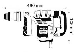 Elektro - pneumatski čekić za bušenje sa SDS-max prihvatom GSH 5 CE Professional BOSCH