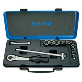 """Ključevi nasadni, prihvat 1/2"""", u metalnoj kutiji 190-6P14 10-24/14 UNIOR"""
