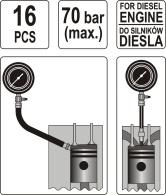 Garnitura za merenje kompresije-dizel YATO