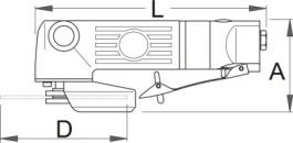Brusilica pneumatska 1518  230mm UNIOR