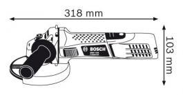Ugaona električna brusilica GWS 7-125 125mm BOSCH