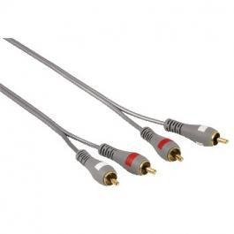 Audio Kabl 2x činč (muški) na 2x činč (muški), 1.5 m pozlaćeni duplo izolovan Hama