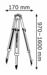 Gradjevinski stativ za daljinomere i nivelatore BT 160 Bosch
