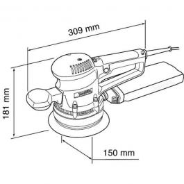Elektronska ekscentar brusilica 310W BO6030 MAKITA