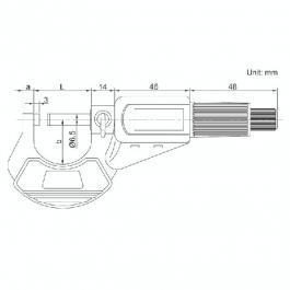 Mikrometar digitalni za spoljno merenje 75mm INSIZE