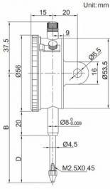 Komparater - merni sat 30mm INSIZE