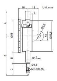 Komparater - merni sat Precizni 58mm INSIZE