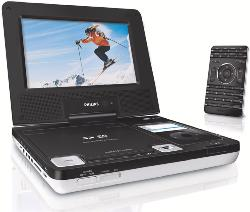 "DVD 7"" portable DVD/MP3/DViX,car adapter,read from DVD&SD card, iPod charger PHILIPS"