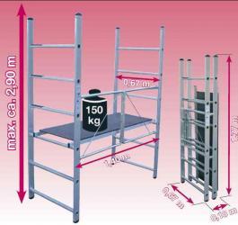 Aluminijumska zglobna skela radne visine 2.9 m Corda Krause