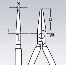 Klešta obla 140 mm 22 01 140 KNIPEX