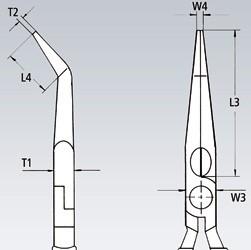 Klešta špicasta kriva 160 mm 25 21 160 KNIPEX