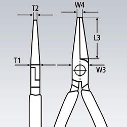 Klešta obla prava 160 mm 30 31 160 KNIPEX