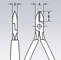 Sečice kose 125 mm 75 02 125 KNIPEX