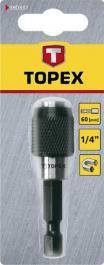 "Držač bitova magnetni brzostežući 1/4"" 60mm TOPEX"