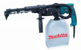 Čekić bušilica sa usisavanjem HR2432 Makita i Akumulatorski udarni odvijač MT691E Maktec by Makita