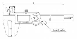 Pomično-digitalno merilo - šubler 300mm INSIZE