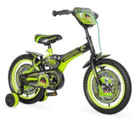 Dečiji bicikl za dečake zeleno-crne boje GREENSTER 16