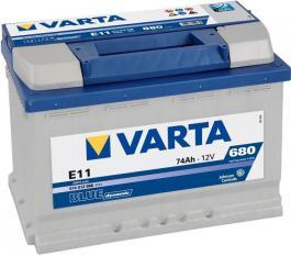 Akumulator Blue Dynamic 12V 74Ah 680A VARTA