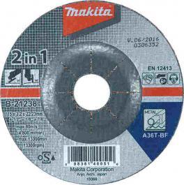 Brusna i rezna ploča za metal 2u1 125x3,2x22 MAKITA