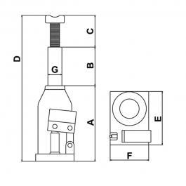 Hidraulična dizalica 5T CP81050 Chicago Pneumatic