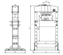 Hidraulična presa 50 T CP86500 Chicago Pneumatic