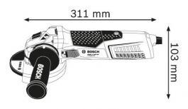 Ugaona brusilica 1700W GWS 17-125 CIE Professional Bosch