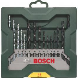 Set burgija za metal, drvo i beton 15kom Bosch