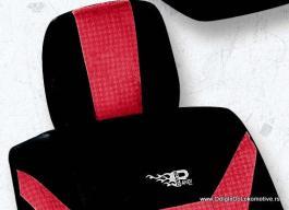 Auto presvlake komplet univerzalne crveno-crne IS 9-3
